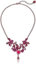 Betsey Johnson Womens Pink Frontal Necklace - $23.71