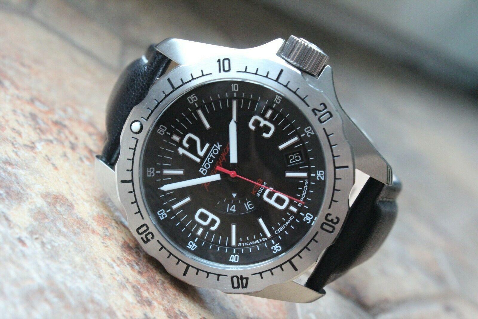 Vostok Komandirsky Russian Mechanical K-39 Military wristwatch 390776