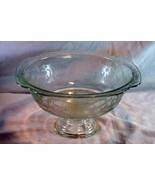 """Federal Glass Madrid Clear Footed Console Bowl 9 1/4"""" - $15.11"""