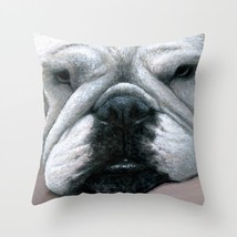 Throw Pillow Cushion case Made in USA Dog 118 english bulldog art L.Dumas - $29.99+