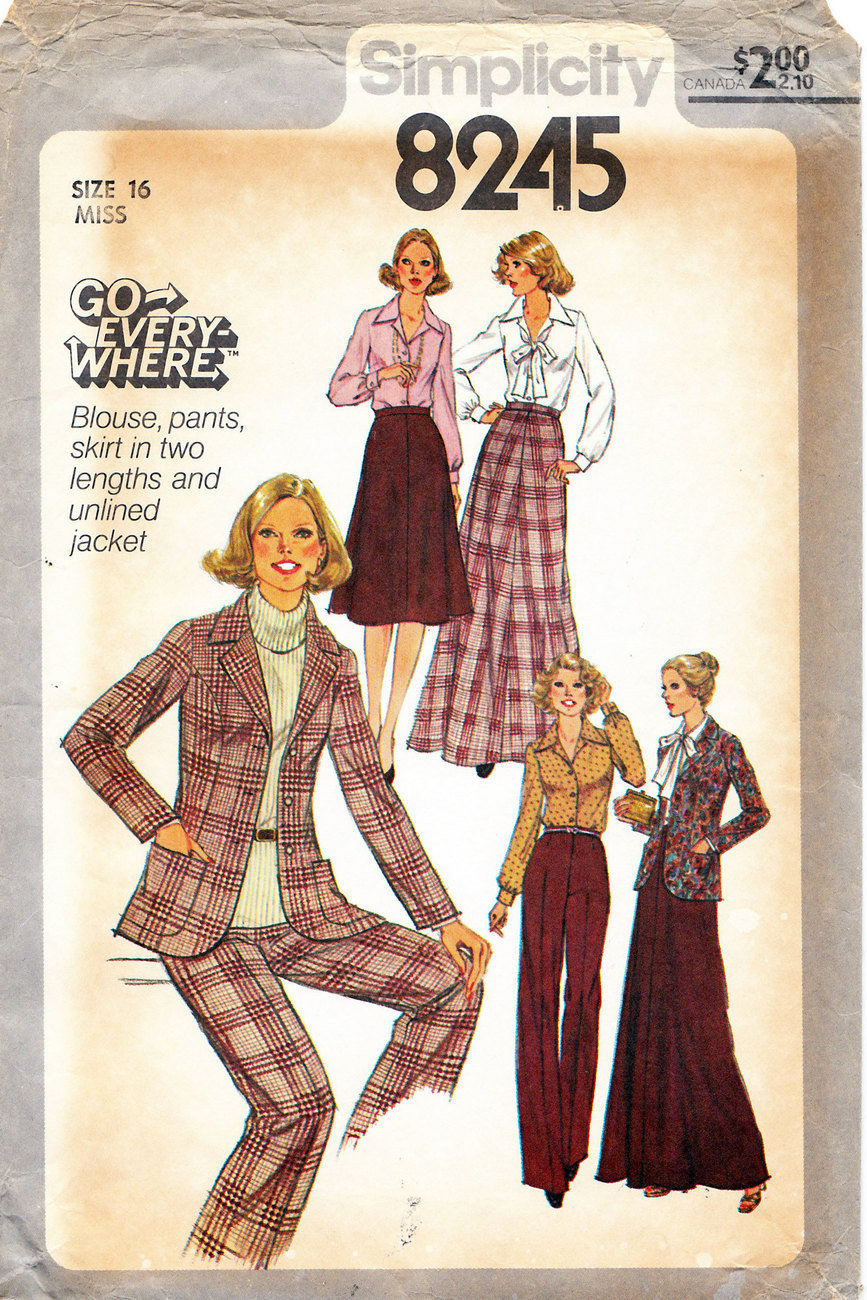 Primary image for McCALL'S 8245 UNCUT SEWING PATTERN MISS SIZE 16 PANTS JACKET