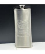 Jack Daniels Flask Tennessee whiskey steel empty liquor bottle travel si... - $19.80