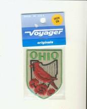 """Voyager OH Ohio Cardinal 2.75"""" Souvenir Tourist Patch - $8.56"""