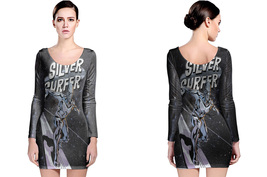 Long Sleeve Bodycon Dress Silver Surfer - $24.99+