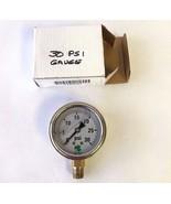 Zenport Lpg30 Zen-tek Glycerin Liquid Filled Pressure Gauge, 30 Psi - $22.42