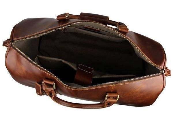 On Sale, Handmade Vintage Full Grain Leather Travel Bag, Duffel Bag, Holdall Lug image 5