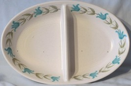 Franciscan Tulip Time Oval Divided Serving Dish - $27.31