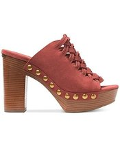 MICHAEL Michael Kors Women's Westley Mule Cinnamon Sport Suede Sandal 9 M