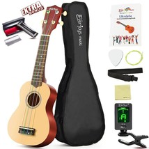 Ukulele Soprano Beginner Kit Ukelele Uke Starter Pack Tuner String Guita... - $57.99