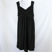 Motherhood Maternity Dress Sz L Black Sleeveless Stretch Polyester Rayon... - $19.99