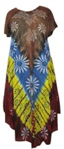 Women's Exclusive Umbrella Dress~Tie &  Dye Handmade Bohemian Midi Party Wear  - $17.77