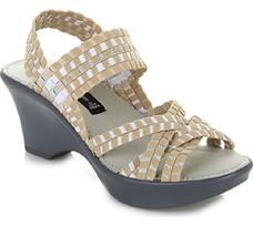 Steve Madden Torrist Woven Wedge Sandal, Tan/Multi, Size US 9 - $49.49