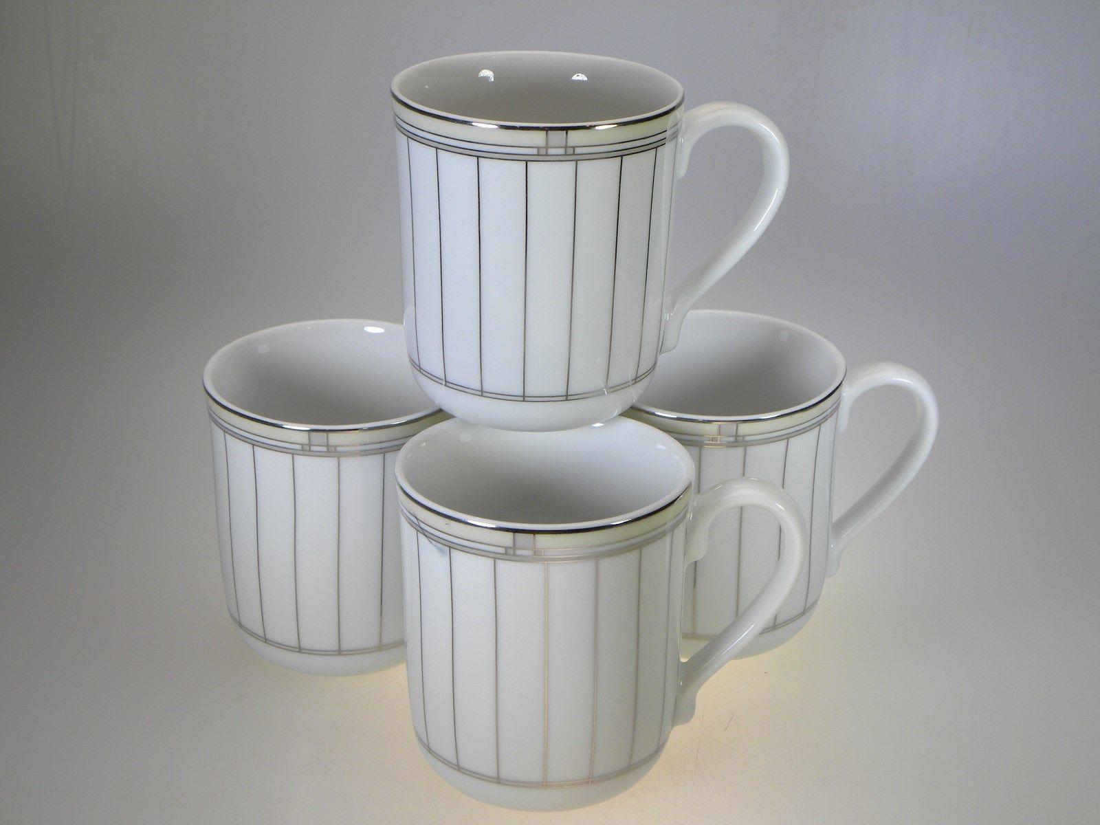Royal Worcester Mondrian Mugs Set of 8