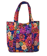 Vera Bradley Vera Tote in Floral Fiesta with Black Interior - NWT - $88 ... - $74.95