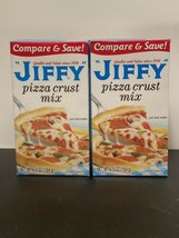 Jiffy Pizza Crust Mix, 6.5 oz, NEW Two (2) boxes!  Made in the USA! - $14.50