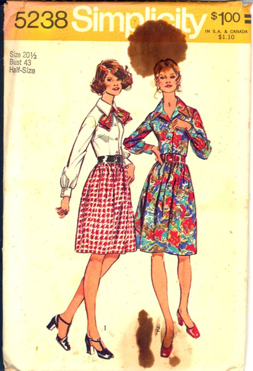 Auction 1295 s 5258 print dress 20 hald 1972 unc