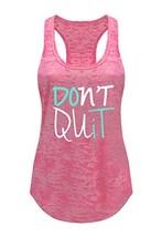 Tough Cookie's Women's Don't Quit Do It Printed Art Burnout Tank Top Lar... - $18.85