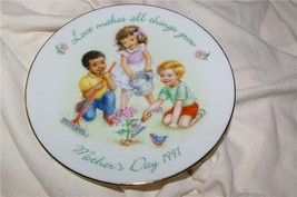 Avon Mother's Day Plate 1991 Great Gift - $6.99