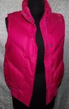 Gap Rosa Hinchado Camiseta Mujer S con Cremallera Acolchado - $26.89