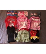Dog Clothing Lot of 6 Small Shirt Tee Costume Dress Jersey Boy Girl - $21.28