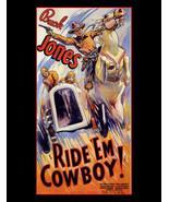 "Buck Jones, Actor, Ride 'Em Cowboy!, Movie Advertisement, Western 8x10"" ... - $15.99"
