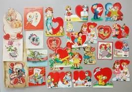 LOT 1945-46 USED 25pc VALENTINE CARD honeycomb a-meri-card norcross hall... - $42.50