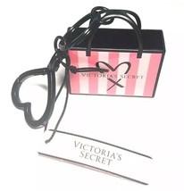 Victoria's Secret Courses Charme Sac Rayure Rose Porte-Clé Clé Mini Méta... - $14.10