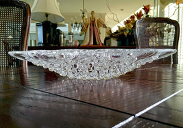 Lalique French Crystal Roscoff Centerpiece Bowl Mint Retail $1950 Fish & Bubbles - $592.02
