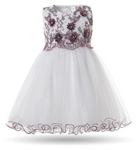 CIELARKO Baby Girls Dress 3D Flower Infant Christening Party Dresses for... - $20.67