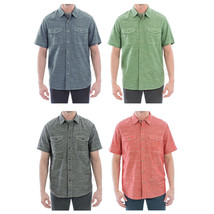 NWT Woolrich Men's Short Sleeve Button Down Cotton Woven Classic Fit ATL... - $29.99