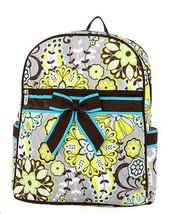 Belvah lime green or brown quilted floral paisley backpack book bag B980 - $25.00