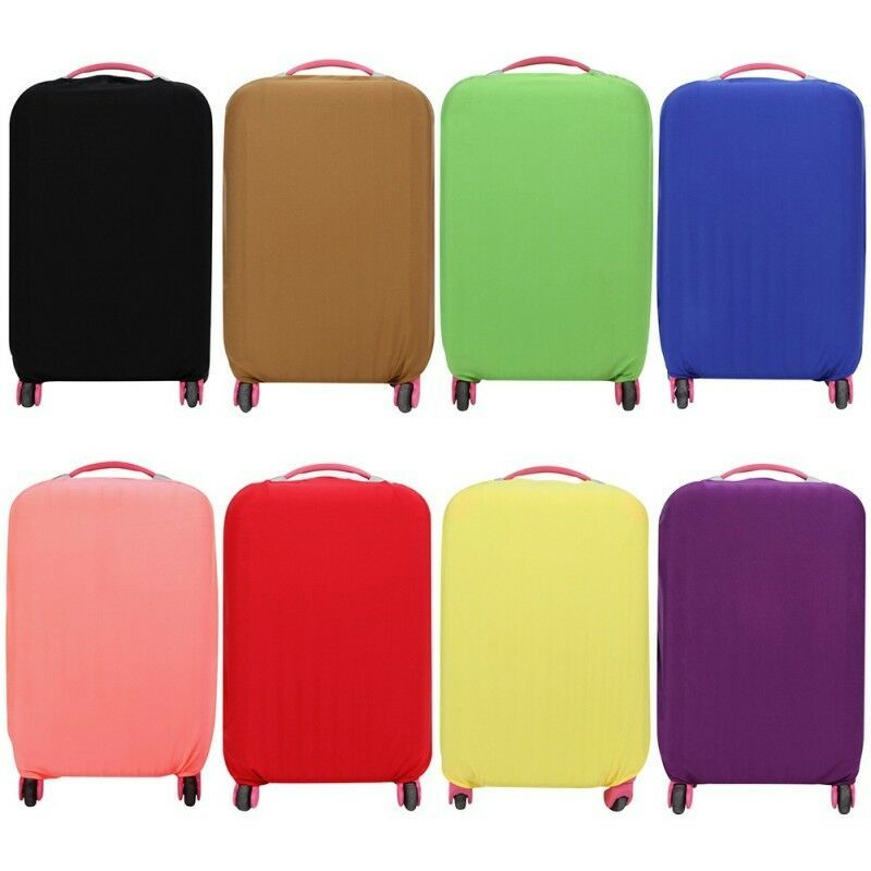 Elastic Travel Luggage Suitcase Bag Cover Protective Dust-proof Solid Case Cover