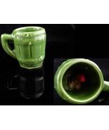 Vintage Naughty mug / green shot glass / bartender gift / whimsical mens... - $65.00
