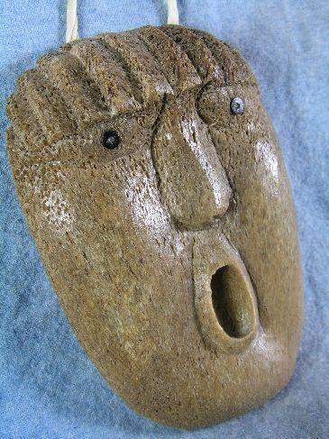 Whalebone Spirit Mask by Athabaskan Carver Wesley Owen, Interior Ak image 5