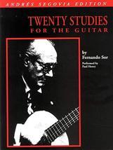 Andres Segovia - 20 Studies for Guitar: Book Only [Paperback] Segovia, A... - $6.77