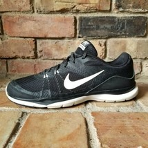 Nike Training Flex TR 5 Womens Size 8 Black White Running Shoes 724858-001 - $27.67