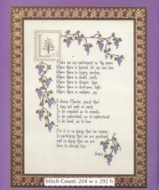 THE PRAYER OF ST. FRANCIS  -  CROSS STITCH PATTERN ONLY HM - WYP - $7.38