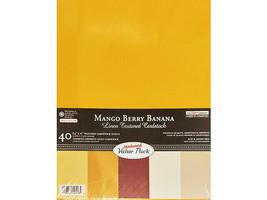 "The Paper Company Mango Berry Banana Linen Textured Cardstock, 8.5"" x 11"""