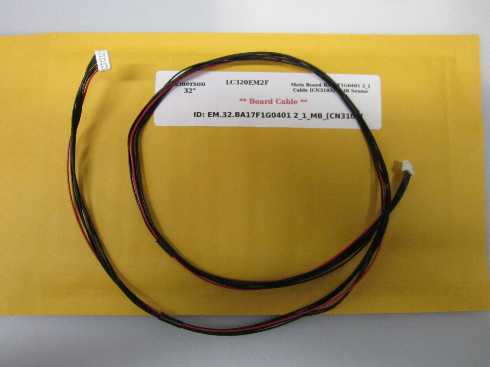 "Primary image for Emerson 32"" LC320EM2F Main Board BA17F1G0401 2_1 Cable [CN3102] to IR Sensor"