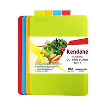 Cutting Boards for Kitchen,4-Piece Kitchen Cutting Boards Set with Food ... - $10.05