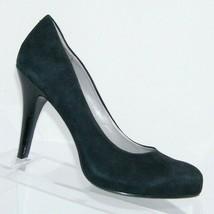 Nine West 'Enhancing' black suede round toe slip on hidden platform heels 7M  - $33.30