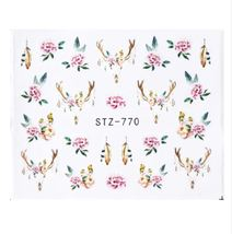 HS Store - 1pcs STZ770 Nail Stickers Water Transfer Sticker Cartoon Cute... - $1.34