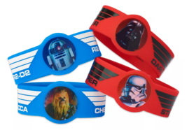 4ct Star Wars Deluxe Darth Vader R2 D2 Chewbacca Storm Trooper Rubber Bracelets image 1
