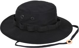 Black Military Wide Brim Fishing Hunting Boonie Hat - $11.99+