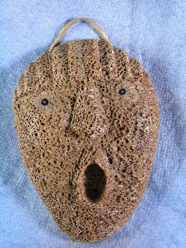 Whalebone Spirit Mask by Athabaskan Carver Wesley Owen, Interior Ak