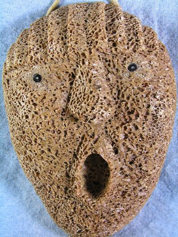 Whalebone Spirit Mask by Athabaskan Carver Wesley Owen, Interior Ak image 3