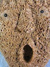 Whalebone Spirit Mask by Athabaskan Carver Wesley Owen, Interior Ak image 4