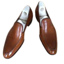 Handmade Men's Leather  Brown colour Monk Dress Shoes For Men's - $125.00