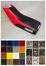 Yamaha Champ 100 Seat Cover YFM100 All Yrs 2-tone Black & Red (Side LOGO/ST/6pc) - $49.95