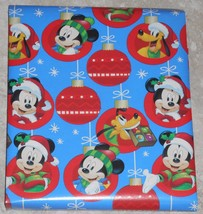 Disney Mickey Mouse Pluto Kids Christmas Wrapping Paper 20 sq ft Roll - $4.75